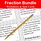 Fraction Operations Task Cards and Activities  Bundle