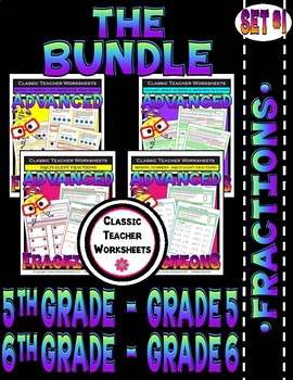 Fraction Bundle - Fractions - Set 1 - 5th Grade (Grade 5) - 6th Grade (Grade 6)