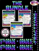 Fraction Bundle - Fractions - Set 2 - 5th Grade (Grade 5) - 6th Grade (Grade 6)