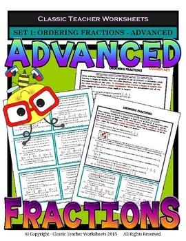 Fraction Bundle - Fractions - Set 2 - 5th Grade (Grade 5) - 6th Grade (Grade 6)