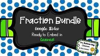 Fraction Bundle: Google Slides to Embed in Canvas