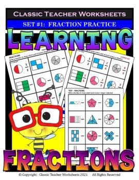 Fraction Bundle - Learning Fractions - Set 1 - 3rd-4th Grade (Grades 3-4)