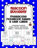 Fraction Butterfly Interactive Notebook Pages and Task Cards