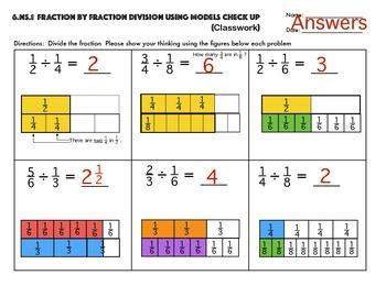 Fraction By Fraction Division Models