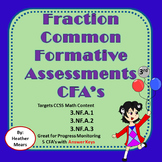 Fraction CFA's common formative assessments