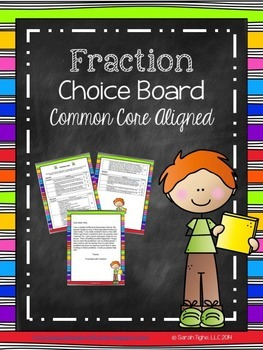 Fraction Choice Board (Common Core Aligned)