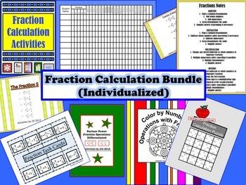Fraction Calculation Bundle  (Individualized)