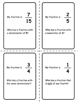 Fraction Card Games