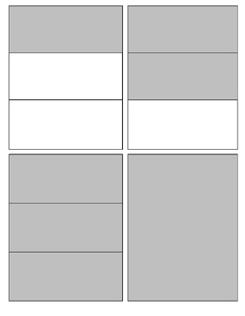 Fraction Card Sample 1 to 5
