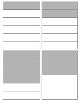 Fraction Cards 1 through 12