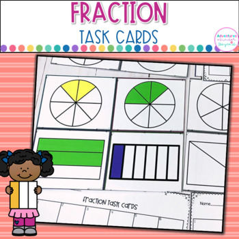 Fraction Task Cards- Identifying and Writing