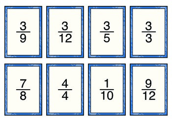 Fraction Cards