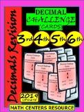 Decimals - Task Cards - Challenge Cards - Grade 3, Grade 4