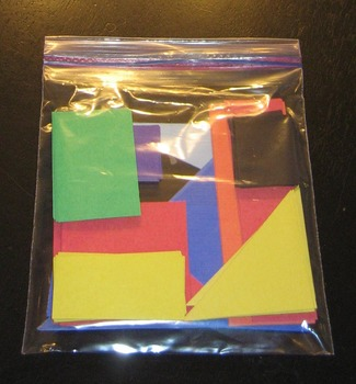 Fraction Cards: 30 sets of color-coded fractions of a squa