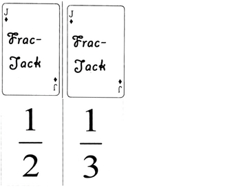 Fraction Cards Comparing Adding (Class set of 15)