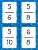 Fraction Cards: Denominators of 2, 3, 4, 5, 6, 7, 8, 9, and 10