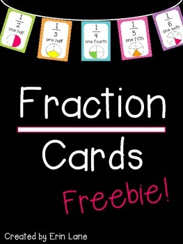 Fraction Cards FREEBIE!