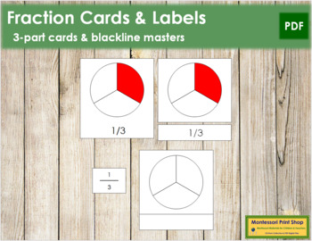 Fraction Cards and Labels