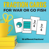 Fraction Cards for Math Games! (Perfect for War or Go Fish!)