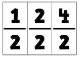 Fraction Cards for Third Grade