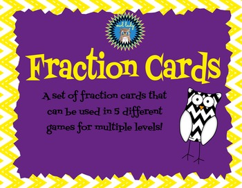 Fraction Cards with 5 Games