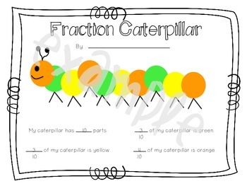Fraction Caterpillar Math Craft