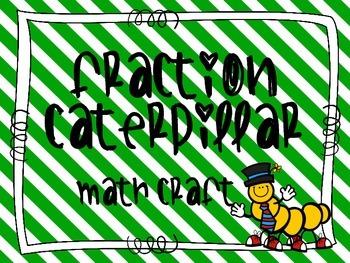 Fraction Caterpillar Math Craft