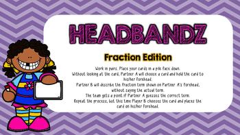 Fraction Center: Headbandz