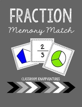 Fraction Center Memory Card Game