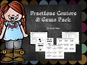 Fraction Centers and Games Pack
