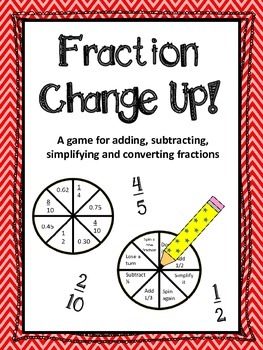 Fraction Change Up game (add/subtract/simplify/convert fractions)