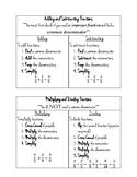Fraction Cheat Sheet