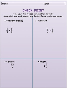 Fraction Checkpoint