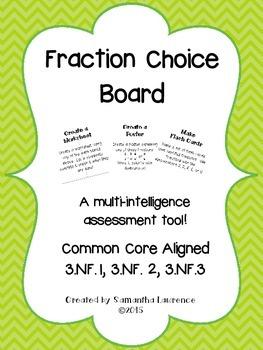 Fraction Choice Board