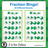 Fraction Circle Bingo - 30 Different Boards + Extras! { Z
