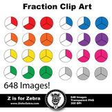 Fraction Circle Clip Art 648 Images - CU OK! ZisforZebra
