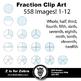 Fraction Circle Clip Art 558 Images Pastels - CU OK! ZisforZebra
