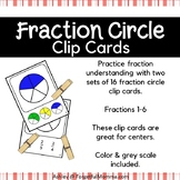 Fraction Circle Clip Cards - Matching Fractions - Fraction