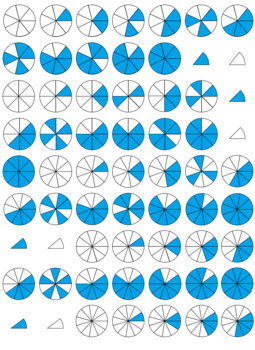 Fraction Circle Clipart