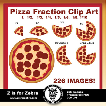 Fraction Circle Pizza Clipart - 226 Images! Commercial Use OK!