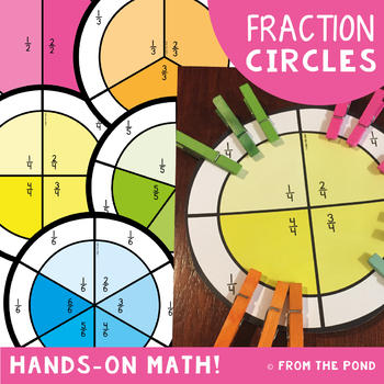 Fraction Circles - A fun way to find a fraction of a group