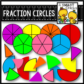 Fraction Circles Clip Art