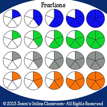 Fraction Clip Art