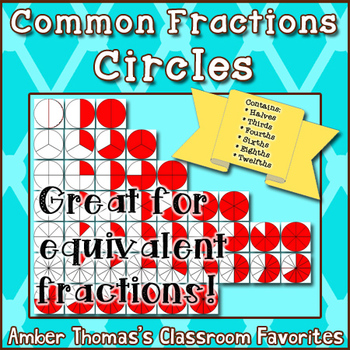 Fraction Circles Clipart {Commercial Use}