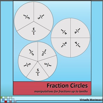 Fraction Circles - Manipulatives for Fractions up to Tenths