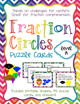 Fraction Circles Puzzle Cards Level A