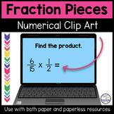 Fraction Clip Art Numerals