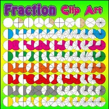 Fraction Clip Art - Pack 1of2 - Over 4800 PNG Graphics (MASSIVE Collection)