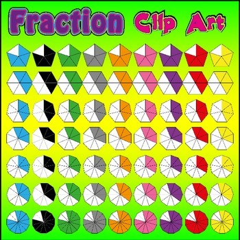 Fraction Clip Art - Pack 2of2 - Over 4800 PNG Graphics (MASSIVE Collection)