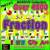 Fraction Clip Art - Pack 2of2 - Over 4800 PNG Graphics (MA